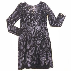 Black Sequence Dress Laundry By Shelli Segal